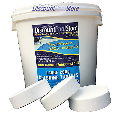 Large 200g Chlorine Tablets Swimming Pool Pools 5kg Ebay