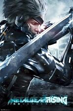 METAL GEAR RISING ~ REVENGEANCE RAIDEN KATANA 22x34 VIDRO GAME POSTER Sword
