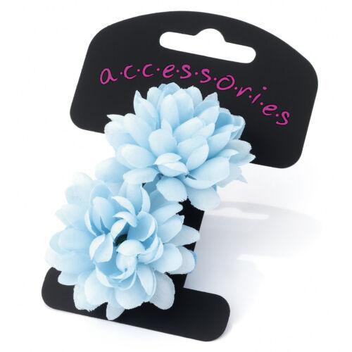 2x SMALL FLOWER BOBBLES PONIOS HAIR ELASTICS HAIR BANDS BABY LITTLE GIRLS BANDS
