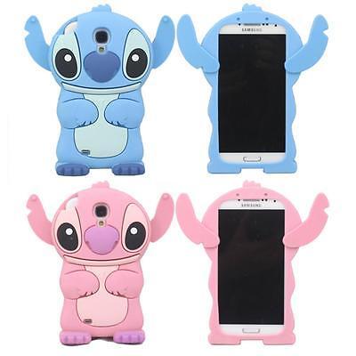 3D Cute Cartoon Stitch Soft Silicone Gel Case Cover for Samsung Galaxy S4 i9500