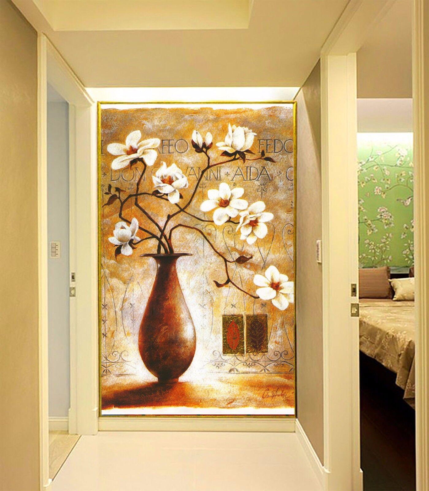 3D Vase Petal 541 Wallpaper Murals Wall Print Wall Mural AJ WALL AU Summer