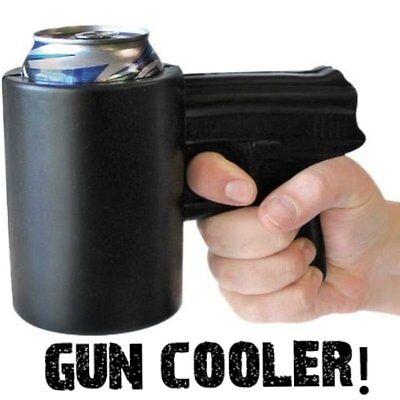BLACK GUN PISTOL SHOOTER  - KOOSIE Coosie Coozie - Party Insulated Foam Cup