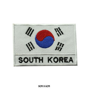 South-Korea-National-Flag-Embroidered-Patch-Iron-on-Sew-On-Badge