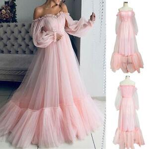 damen schulterfrei brautkleid abendkleider party ballkleid tull maxikleid gown  ebay