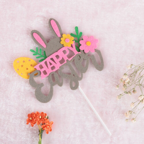 Easter Cupcake Topper Picks Rabbits Bunny Chick  Decor Party Favors Birthday