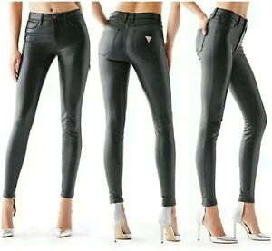 Details about ❤ NEW GUESS 1981 HIGH RISE COATED PONTE KNIT SKINNY JEANS SIZE 23 ❤