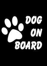 Dog On Board Decal Window Sticker Wall Bumper