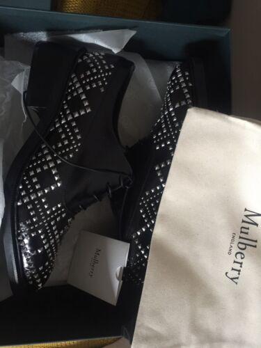 Zwarte Oxford veterschoenstuds schoenmaat 7 Mulberry Rrp499 Uk dames 40 NO0vmy8nw