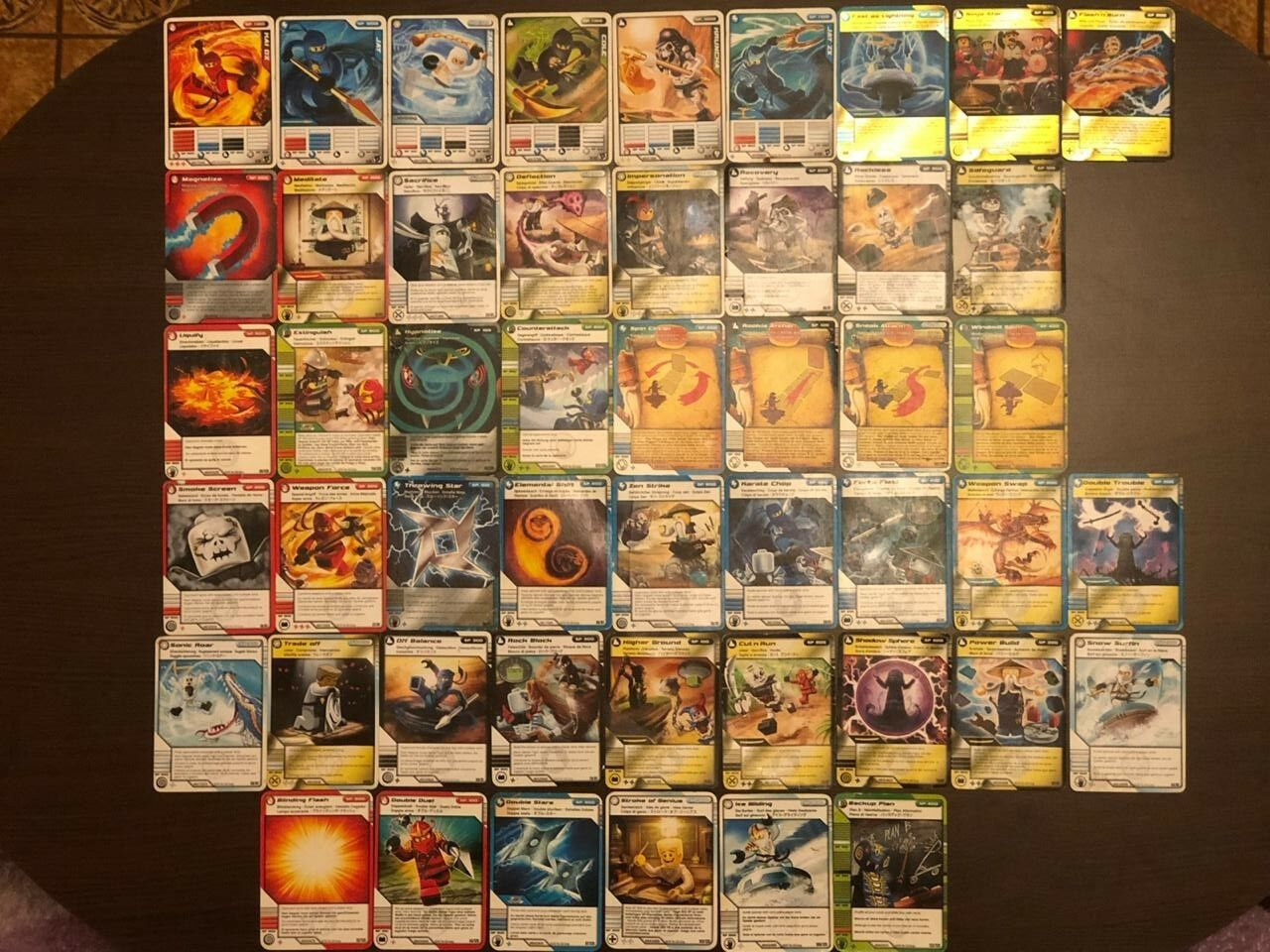 Lot for 49 LEGO Ninjago cards cards cards Masters of Spinjitzu Free Shipping a78aae