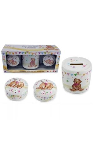 My First Curl Tooth and Money Box New Baby Keepsake Gift Christening Gift