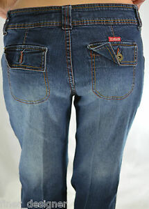 U. S. Polo Assn stretch blue denim jeans boot flare curvy JR SIZE 13 ... a7d7d18b90