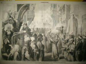 TURQUIE-CONSTANTINOPLE-DEPART-LA-MECQUE-MEDINE-TUNISIE-INSURGeS-GRAVURES-1865