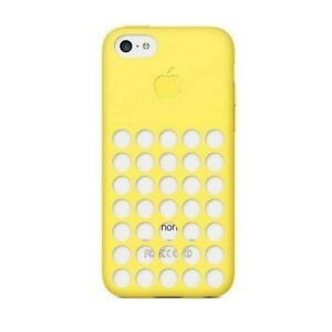 Dettagli su Apple Custodia Originale MF038ZM/A Slim Cover Silicone Gialla per IPHONE 5C