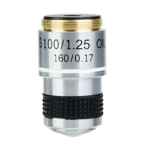 New-100X-Biological-Microscope-Achromatic-Objective-Lens-160-0-17