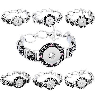 1 Bracelet Pour Bouton Pression Pendentif Anneau Fermoir Toggle 24.6cm Long