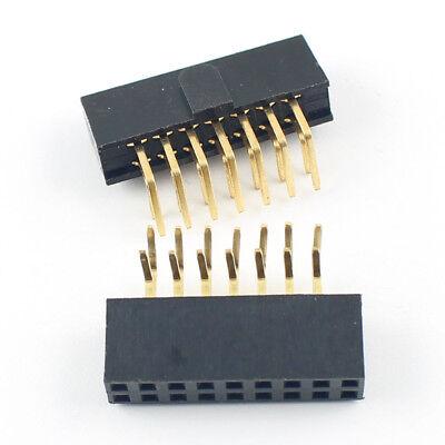 "20Pcs 2.54mm 0.1/"" Pitch 2x5 Pin 10 Pin Female Pin Header Strip Polarizing Key"