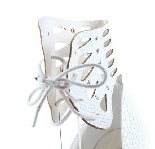 Details about  /White Ankle Strap Snake Skin Print Platforms Womens High Heels Shoes Size 6.5