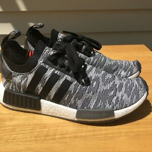 Details about ADIDAS NMD R1 PK PRIMEKNIT GLITCH CORE BLACK GREY SNEAKERS SZ 9.5 CQ2444