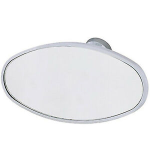 Interior Vintage Oval Chrome Rear View Glass Windshield