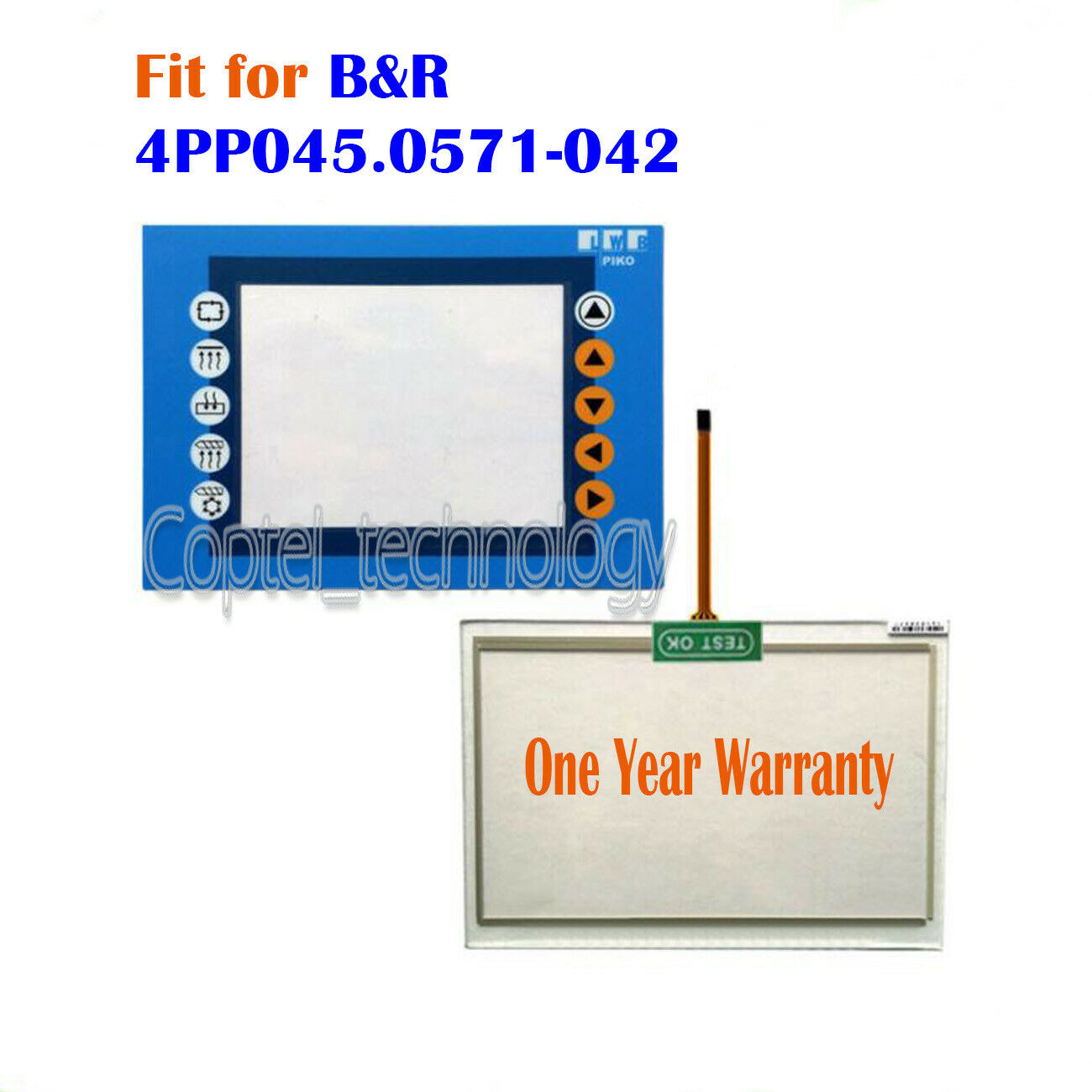 New for B&R 4PP045.0571-042 4PP045-0571-042 Touch Screen Glass + Predective Film
