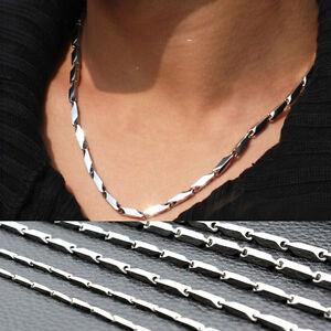 Fashion-Herren-Edelstahl-Halskette-Titanium-Halskette-Kette-2mm-4mm