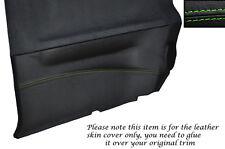 GREEN STITCH 2X REAR DOOR CARD TRIM SKIN COVER FITS NISSAN SUNNY PULSAR GTIR