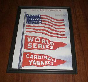 1942 World Series Cardinals Yankees Framed Print Ebay