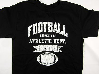 NFL Athletic Football men's short sleeve Tee shirt black choose A size