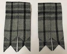 Scottish Kilt Sock Flashes Highland Grey Tartan/Highland Kilt Hose flashes