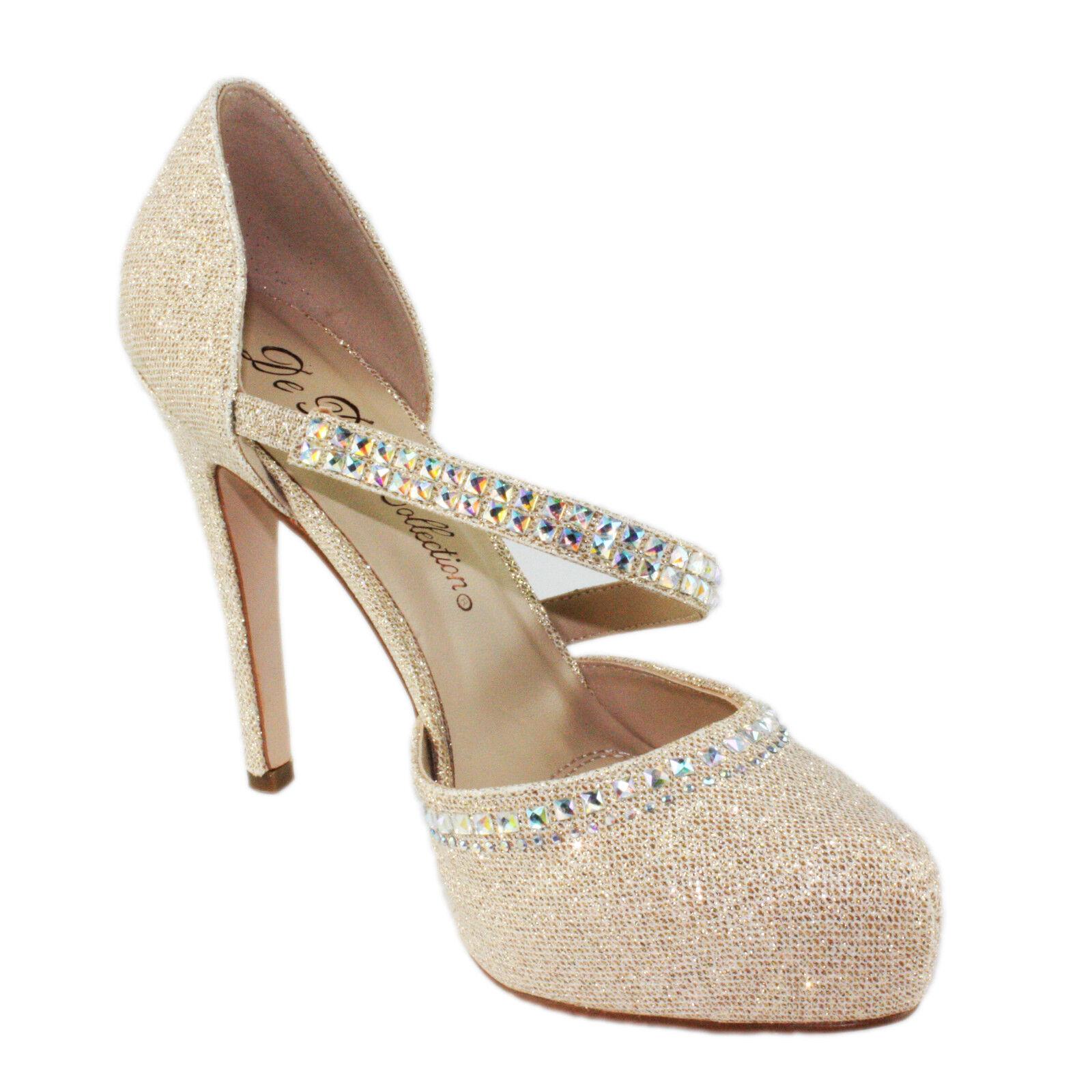 Blossom Summer-44 Almond-Toe Almond-Toe D'orsay Party Bridal Platform High Heels