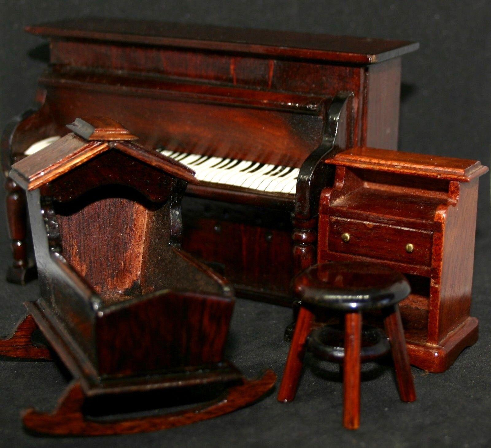 Bespoke Handcraft Miniature Wooden Furniture Decorative or Dolls House Rare