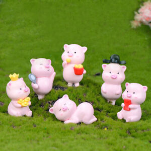Mini-Cute-Pig-Figur-Tier-Micro-Landschaft-Miniatur-Fee-Gartendekor-YR-WRSFD