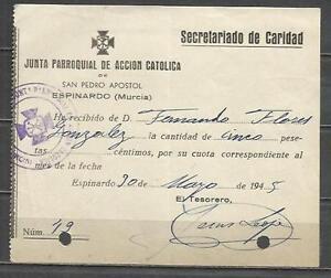 W1A-DOCUMENTO-CUOTA-MURCIA-ESPINARDO-JUNTA-PARROQUIAL-ACCION-CATOLICA-1945-JUNTA