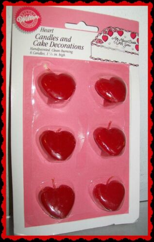 PICK FROM TWO NEW WILTON VINTAGE HEART CAKE AND PARTY SUPPLY CANDLES