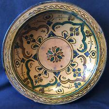 Maroc Céramique marocaine plat milieu XXème signé  AL- MAGHRIB
