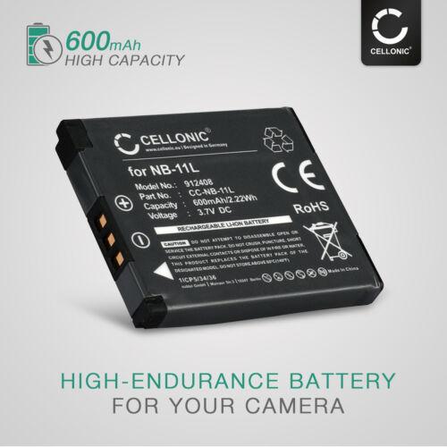 batería de repuesto Batería 2x para Canon PowerShot sx432 is IXUS 147 IXUS 157 600mah