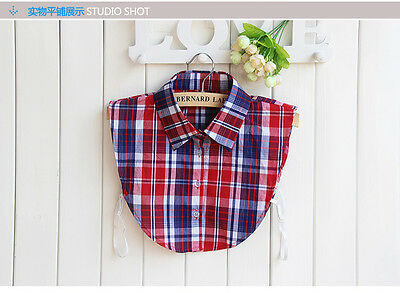 Clothing Detachable Lapel Shirt Tops Fake False Collar Choker Necklace #EAF033
