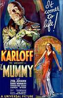 Vintage Karloff The Mummy Movie Poster Quilting Fabric Block