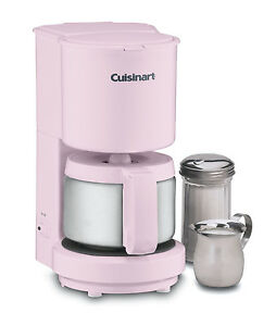 4 Cup Coffee Maker Auto Shut Off : Cuisinart DCC 450pk 4 Cup Coffee Maker Stainless Steel Carafe Auto Shutoff Pink 0086279020642 eBay