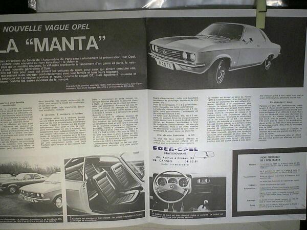 Leuk Depliant Presentation Opel Manta + Bande Dessinee Levendig En Geweldig In Stijl