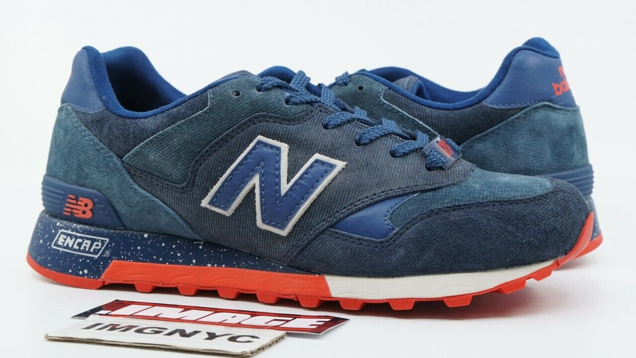NEW BALANCE CM577 USED SIZE 7.5 RONNIE FIEG KITH AMERICANA DENIM NAVY blueE RED