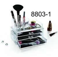 Great Clear Acrylic Transparent Make Up Box Organiser Cosmetic Display Case Cga