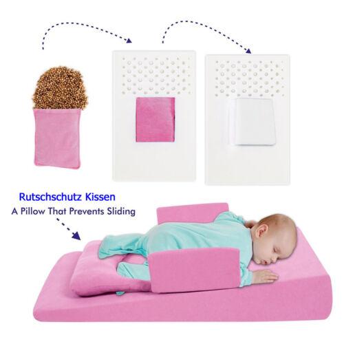 Baby Anti Reflux Bett Kirschkernkissen Keil Bett Kissen Kinderbett Blau /& ROSA
