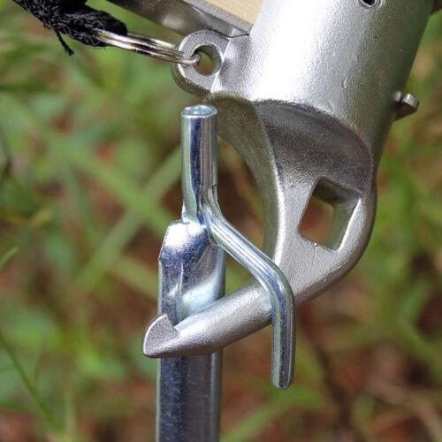 5pcs Eisen Zeltstange Reparatur Ersatz Ersatzgestänge für Camping Wandern
