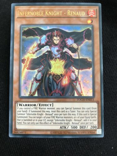 YUGIOH TOCH-EN011 Infernoble Knight Renaud Ultra Rare Unlimited Edition