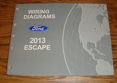 Original 2013 Ford Escape Wiring Diagrams Manual 13 Ebay