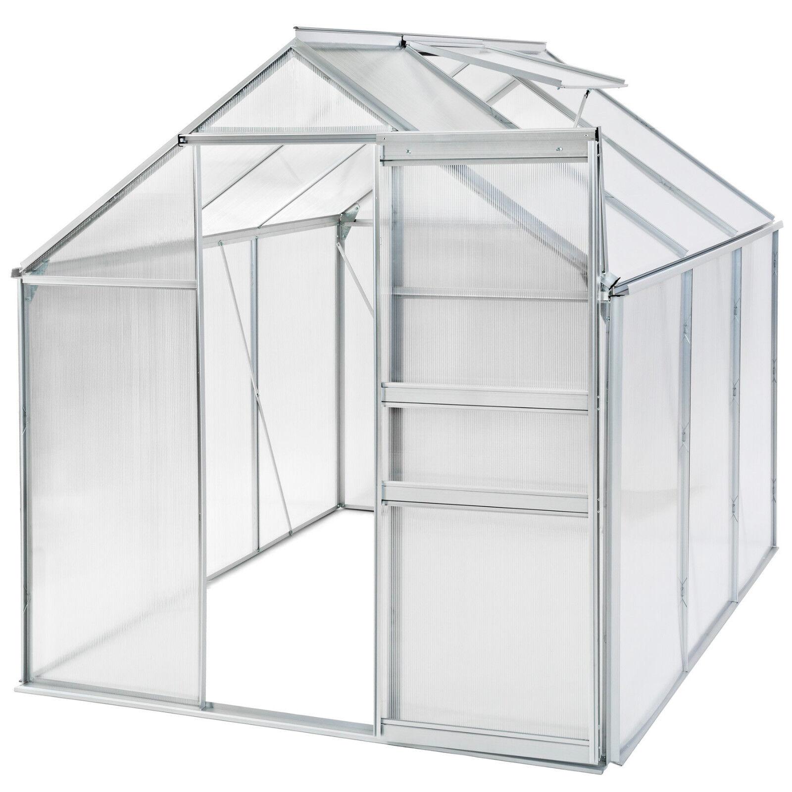 Grünhouse polycarbonate aluminium grow plants growhouse garden structure 5.7m³