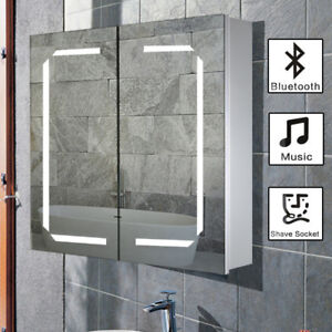 Swell Details About Wall Mounted Led Cabinet Mirror Storage Shelves Cupboard Bathroom Shaver Socket Download Free Architecture Designs Scobabritishbridgeorg