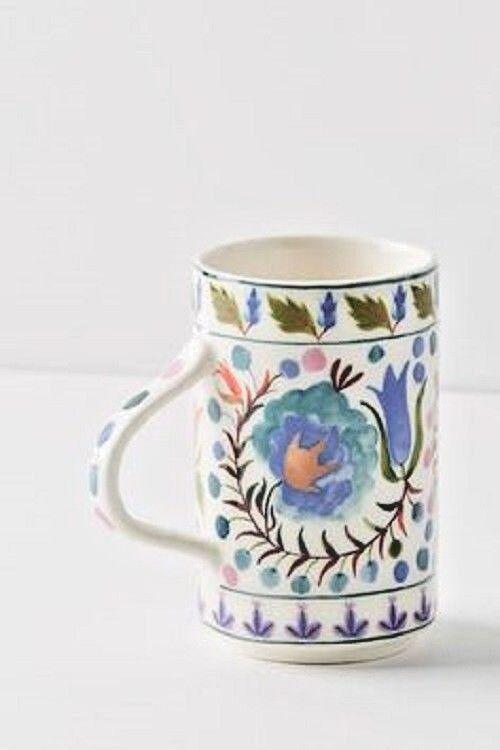 NWT Anthropologie SET OF FOUR bleu Les Fleurs Mug- Sold-Out