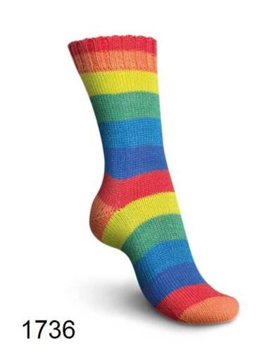 7,95€ 100 gr REGIA PAIRFECT RAINBOW Sockenwolle 4-fach = 2 gleiche Socken